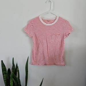 Madewell red and white striped t-shirt